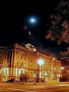 [Full moon over City Hall]