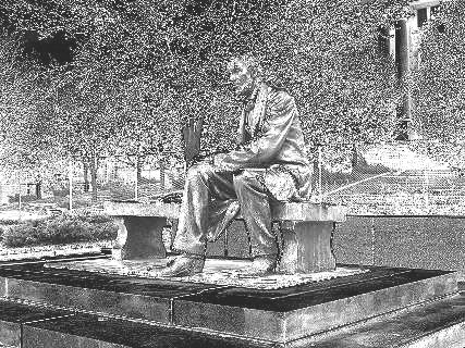"[""Chrome"" effect on Lincoln statue]"