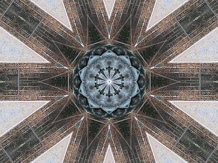 [Kaleidoscope view taken, if unrecognizably, from Lincoln statue]