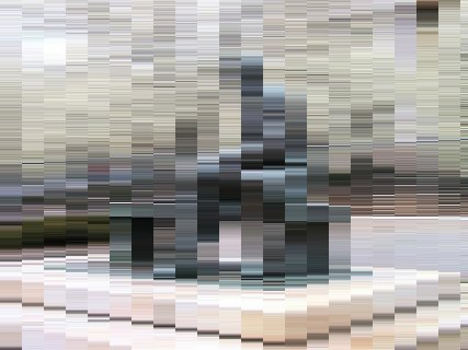 [Highly pixelated view of Lincoln statue]