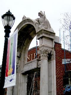 [Old arch outside NJPAC]