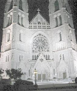[Cathedral Basilica of the Sacred Heart at nite]