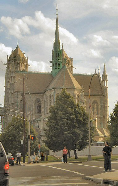 [Back of Sacred Heart Cathedral]