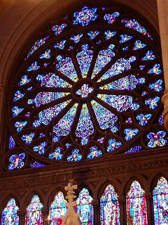 [Other rose window, transept, Nwk cathedral]