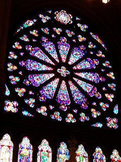 [West transept rose window, Nwk cathedral]