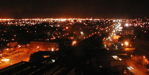 [Southern Newark (airport area) at nite]