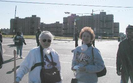 [My mother and sister before the demolition]