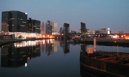 [Predawn view of Downtown from Jackson St Bridge]