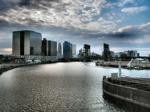 [Slightly processed foto of view from the Jackson St Bridge]